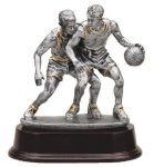 Basketball Double Action Signature Rosewood Resin Trophy Awards