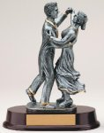 Ballroom Dancing Signature Rosewood Resin Trophy Awards