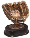 Baseball Glove Signature Rosewood Resin Trophy Awards