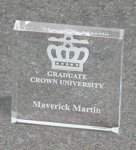 Paper Weight - Bevel Square Square Rectangle Awards