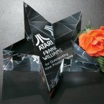 Slanted Star Paperweight Star Crystal Awards