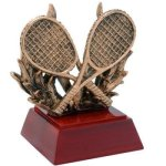 Resin Sculptures -Tennis with Racquets  Tennis Trophy Awards