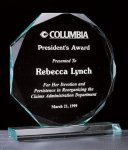 Octagon Series 3/4 Thick Acrylic Award Traditional Acrylic Awards