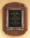 American Walnut Plaque with an Antique Bronze Casting Walnut Plaques