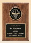 American Walnut Plaque with 4 Engravable Disk Walnut Plaques