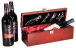 Single Wine Box With Tools -Rosewood Piano Finish Wine Gifts