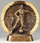 Resin Plate -Soccer Female Wreath Mini Resin Trophy Awards
