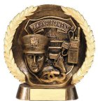 Resin Plate -Law Enforcement Police Wreath Mini Resin Trophy Awards